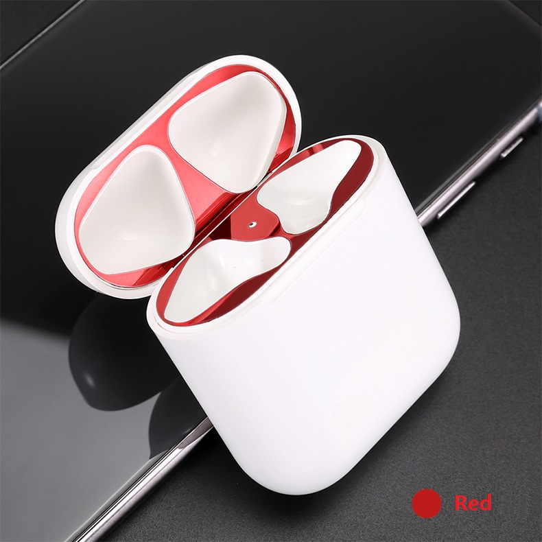 Protective Cover Dust-proof Patch Bluetooth Wireless Headset Metal Fittings Inner Cover To Prevent Dust Metal Patch for Airpods