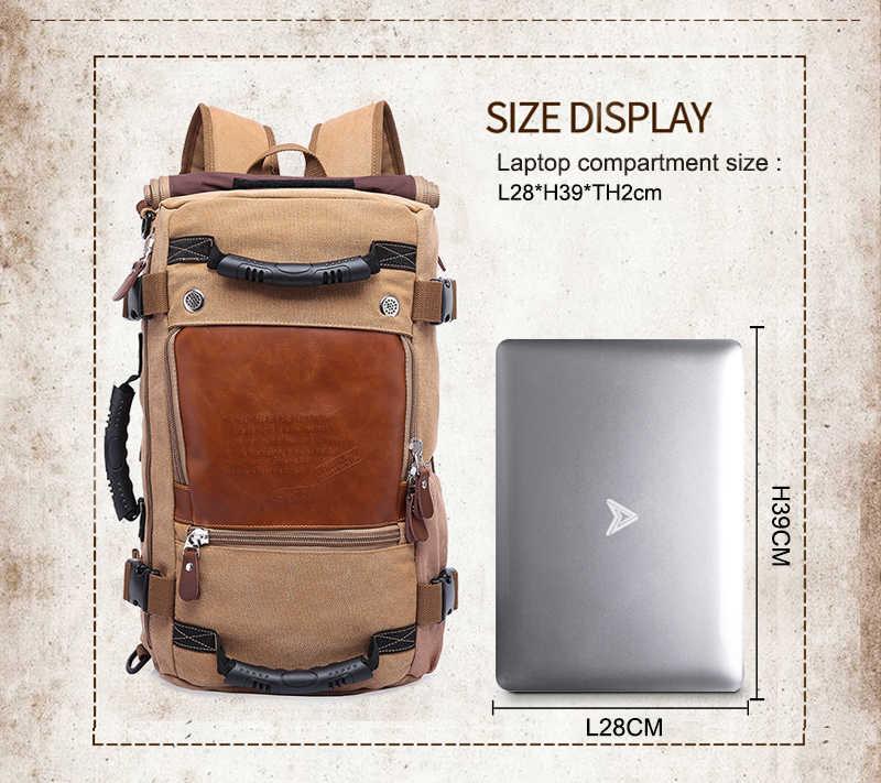 Кака Винтаж холст путешествия рюкзак Для мужчин Для женщин большой Ёмкость Чемодан сумки через плечо, рюкзаки мужские Водонепроницаемый рюкзак