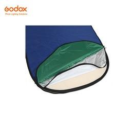 7-em-1 Godox 150×200 cm Oval RFT-10 Foto Dobrável Luz do Refletor Disco de ouro e prata preto branco azul translúcido verde