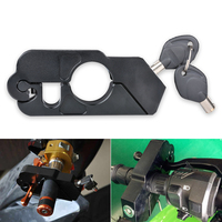 Motorcycle Grip Lock Universal Aluminum CNC Motorcycle Handle Throttle Grip Security Lock with 2 Keys to Secure a Bike