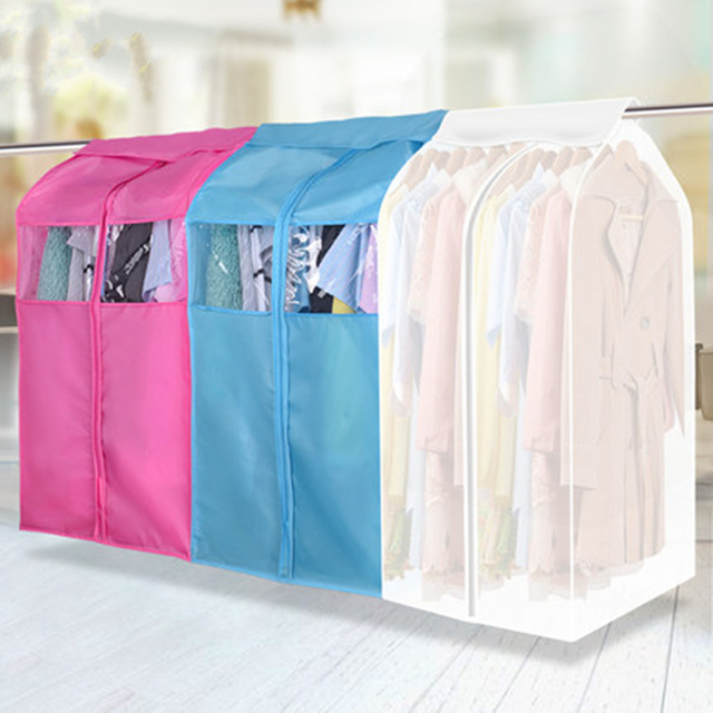 c3e0131b9db3 US $14.95 |Three dimensional Clothes dress Garment Suit dust cover case  Dustproof Storage Bag Organizer hanging pocket clothing protector-in  Storage ...