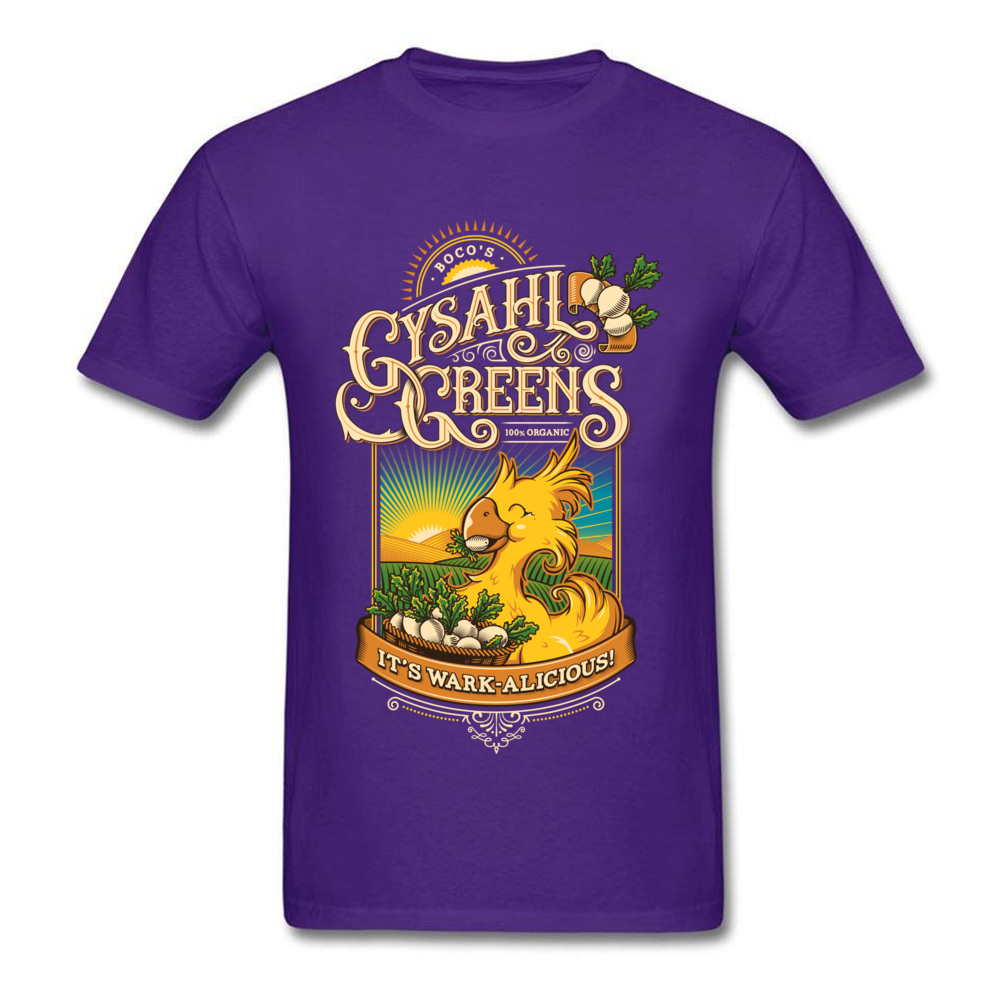 Young Funny Printed On Tees Round Neck NEW YEAR DAY Pure Cotton T-Shirt Cool Short Sleeve Wark alicious Tops T Shirt Wark alicious purple