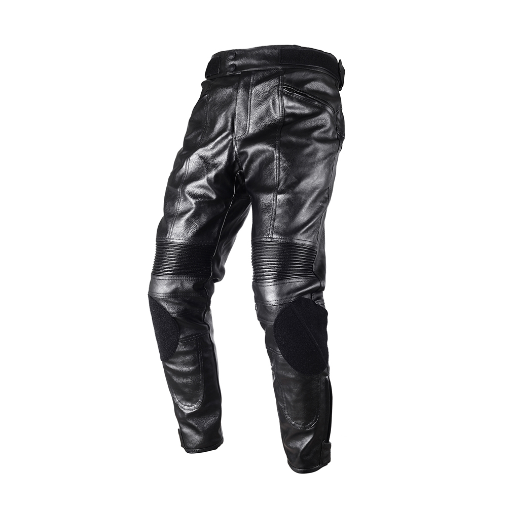 DUHAN Motorcycle Riding Protective CE pads Knee Protector Trousers Waterproof Windproof Mens PU Imitation Leather Racing Sports