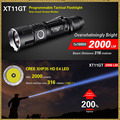 2016 KLARUS XT11GT Newest CREE XHP35 HD E4 LED 2000 Lumen  Tactical Flashlight  USB charging by 3100 mAh 18650 Li-ion batteries