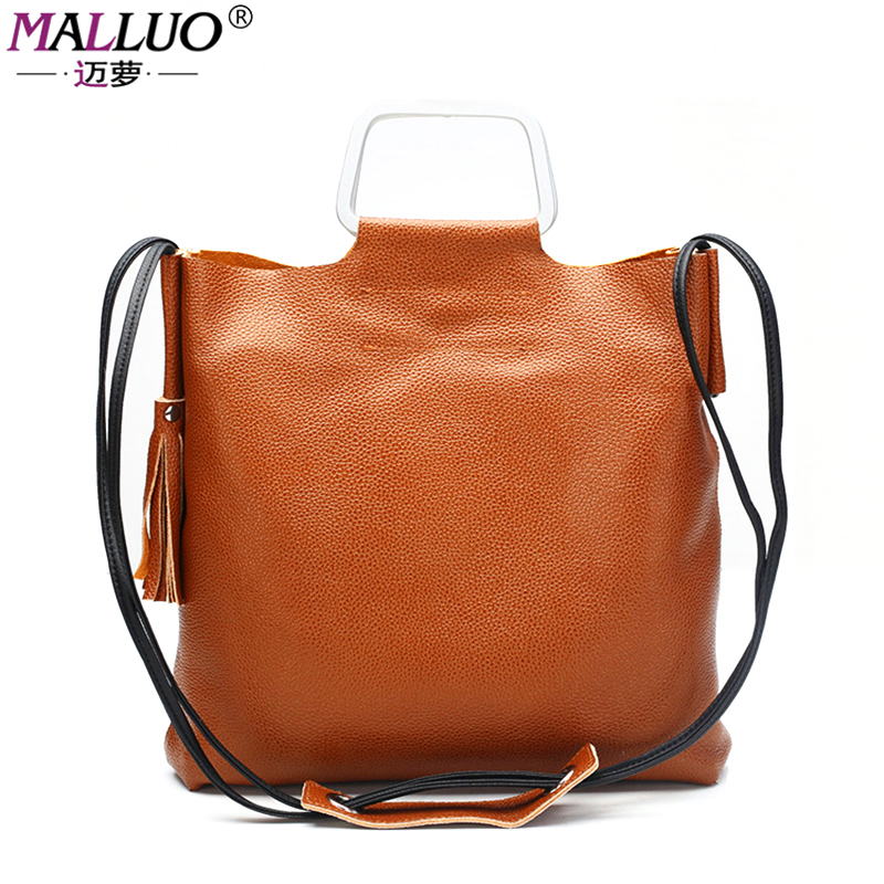 MALLUO famous brand genuine leather ladies bags female shopping shoulder bag for women handbag casual women's messenger bags hot genuine leather women shoulder shopping bags female crossbody handbag cow leather ladies bag free shipping