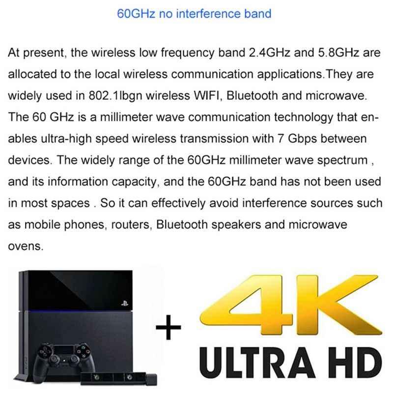 تيسي W2H-4K 4K HD اللاسلكية فيديو الصوت نقل التلفزيون AV المرسل جهاز ريسيفر استقبال وإرسال موسع هيمي 30 متر 60 جيجا هرتز جديد