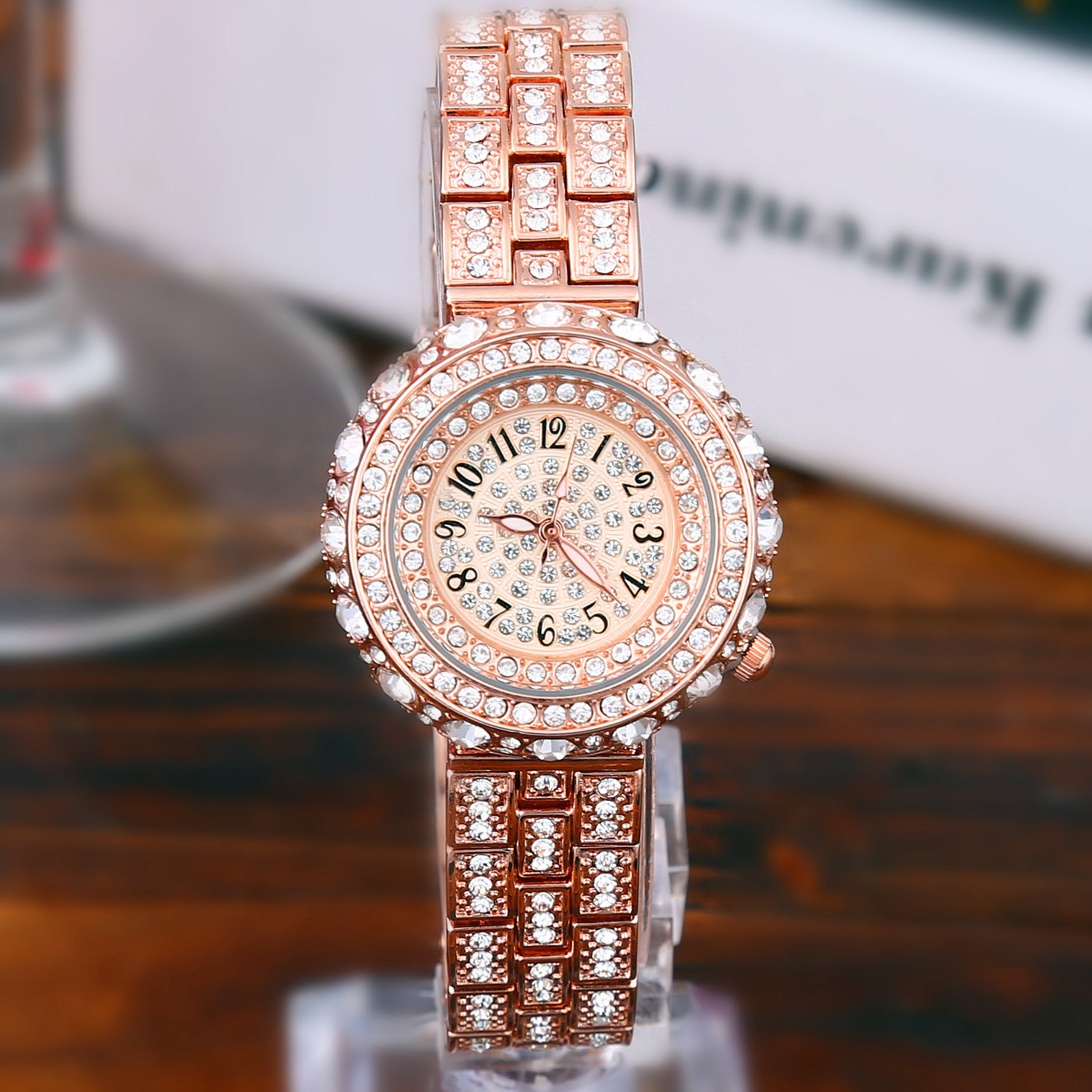 Luxury Full Diamond Dress Watch Women Rhinestone Bangle Watch Lady Rose Gold Silver Wristwatch Ladies Female Hours Reloj spring big sale brand bs luxury 14k gold diamond women watch lady gold siliver dress watch rhinestone bangle bracelet