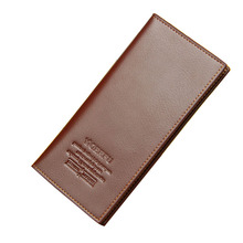 PU Leather Purses Men Thin Long Clutch Wallets Credit Card Holder Coin Purse