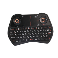 Original Rii i28C 2.4GHz Mini Russian Wireless Keyboard with Touchpad, Air mouse, Backlit, Li ion Battery for mini PC, TV box