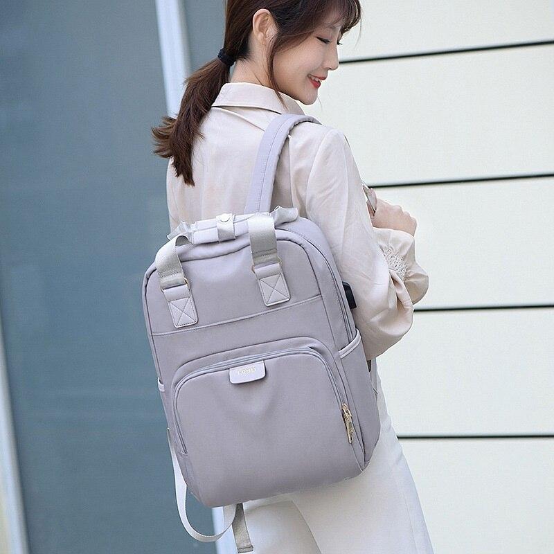 Laptop Bags Shoulder Notebook Bag Case Portable Solid Gray Color Style Bag
