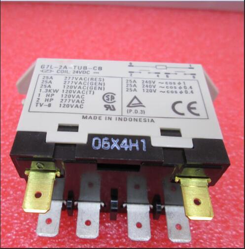 NEW High power 24V relay G7L-2A-TUB-CB 24VDC G7L-2A-TUB-CB-24VDC G7L-2A-TUB 24V 24VDC DC24V 25A 6PIN dhl ems power source vtc24sa 24v 3 2a a1