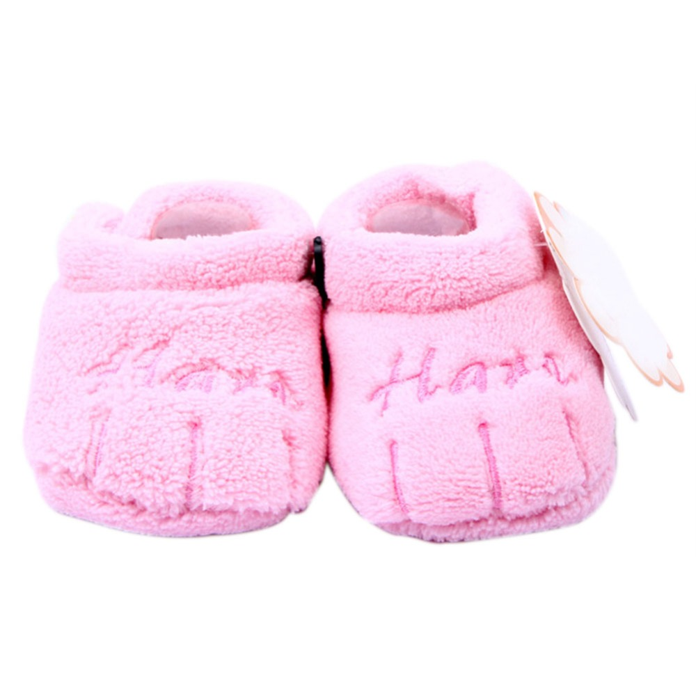 Unisex Baby Shoes Soft Sole Skid-proof Girl Cotton Shoes First Walkers 0-12 Months