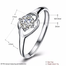 SALE Fine Jewelry Original Authentic 925 Sterling Silver Crystal From Opening Rings Rings For GIRL Gift