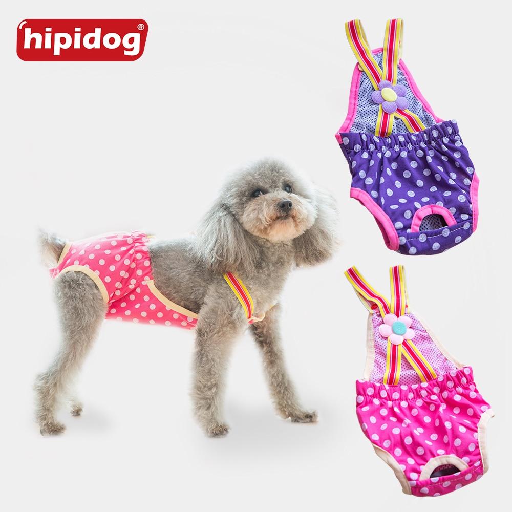 Hipidog moterų šunų šortai kelnaitės Dots Pet didelis šunų vystyklų sanitarinės fiziologinės kelnės Plaunamas menstruacijų apatinis apatinis trikotažas