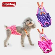 Hipidog Female Dog Shorts Panties Dots Pet Large Diaper Sanitary Physiological Pants Washable Menstruation Underwear Briefs