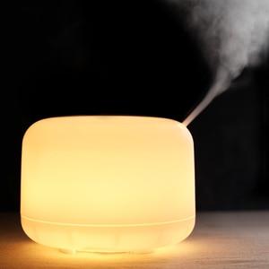 Image 5 - 300 مللي زيت طبيعي ناشر رائحة 2 مستويات قابل للتعديل ضباب صانع بالموجات فوق الصوتية الهواء المرطب مع 7 ألوان LED ضوء الليل
