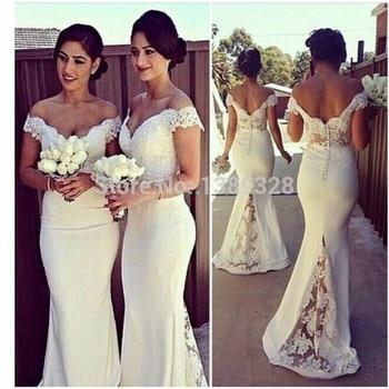 Sexy Sweetheart Lace Cap Sleeves Sexy Bridesmaid Dresses 2019 See Through Custom Made Mermaid Vestido De Festa De Casamento