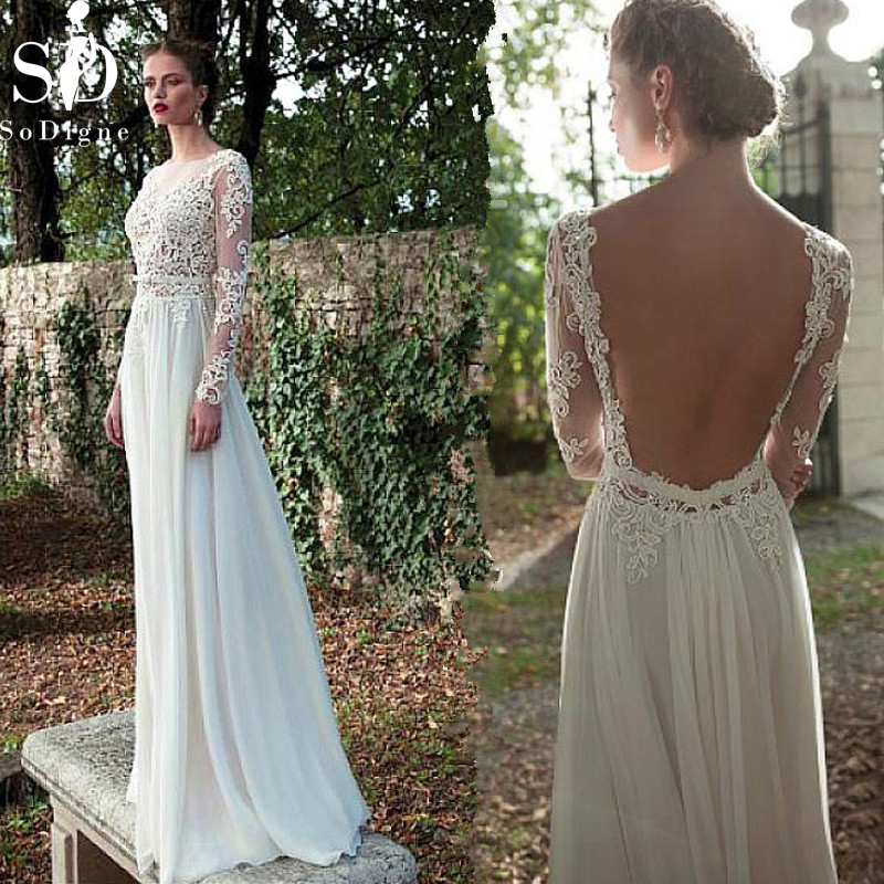 Backless Wedding Gowns: SoDigne Sexy Backless Wedding Dresses 2019 New Beach Dress