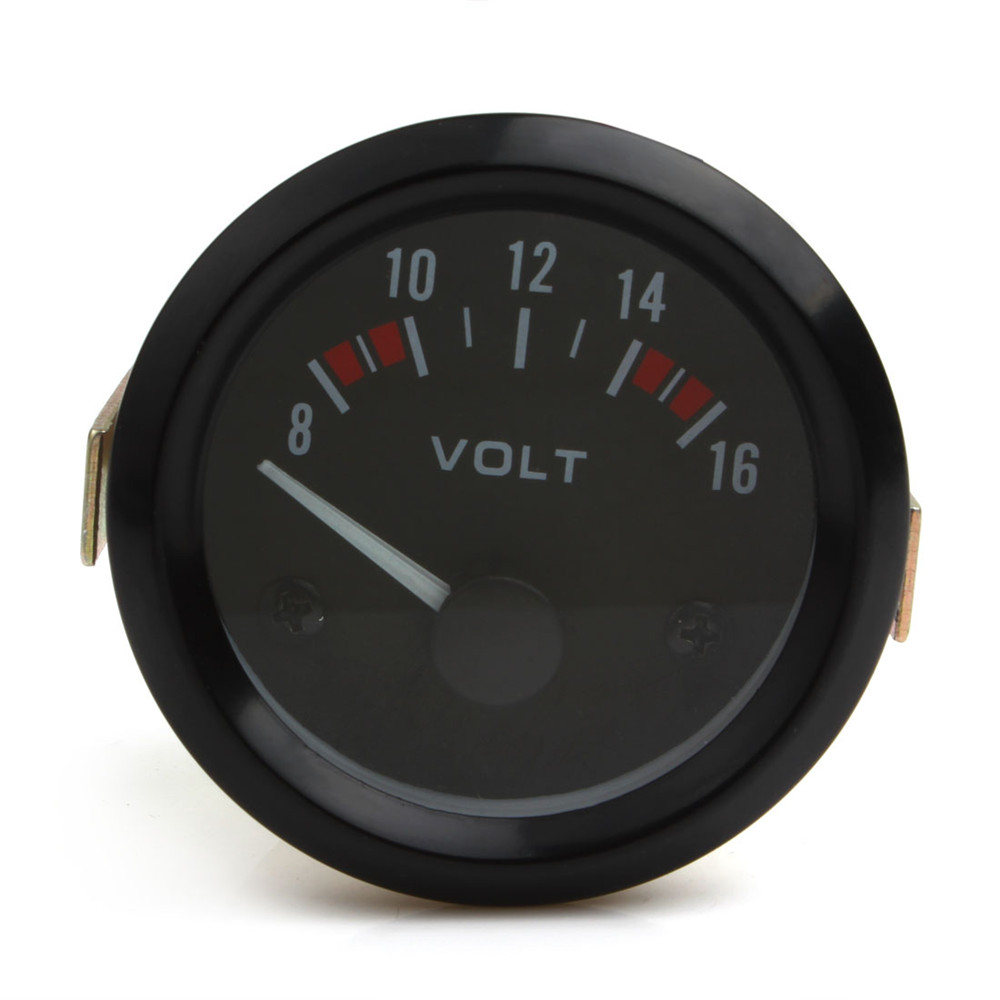 Car Tools Universal Voltmeter Gauge Meter 8-16V Racing Car 2inch volt Gauge Volts Meter 52mm Gauge Instrument