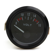 Brand New Car Tools Universal Voltmeter Gauge Meter 8-16V Racing Car 2inch volt Gauge Volts Meter 52mm Auto Gauge Instrument