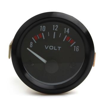 Narzedzia samochodowe uniwersalny woltomierz miernik 8-16V samochód wyścigowy 2 cal woltomierz V miernik 52mm przyrząd pomiarowy tanie i dobre opinie CN (pochodzenie) FRONT 128g Thermometer