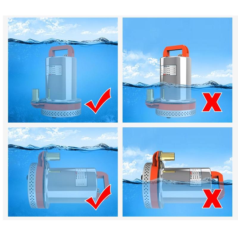 24v dc water pump ZQB-24 mini dc water pump 10m dc water pump submersible 135W 135L/min 24v dc submersible water pump