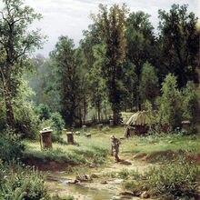Картина маслом, пейзаж, холст, Современная Настенная живопись для гостиной, Шишкин, Пасека в лесу, домашний декор, ручная роспись