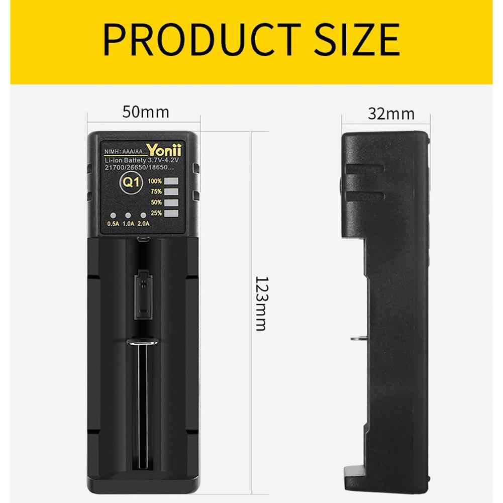 18650 شاحن بطارية 26650 USB الذكية النيكل الهيدروجين AA AAA 21700 فتحة واحدة ليثيوم شاحن بطارية