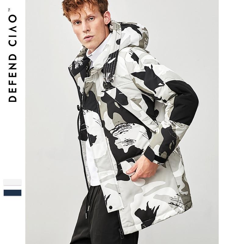 2018 Winter Warm Man Camouflage Fashion   Down     Coat   Male Hooded   Down   Jacket M L XL XXL XXXL