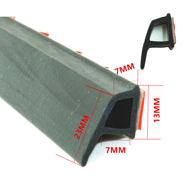 Genuine Adhesive P Type Car Rubber Seal Sound Insulation Dust Proof Car Door  Sealing Strip Seal
