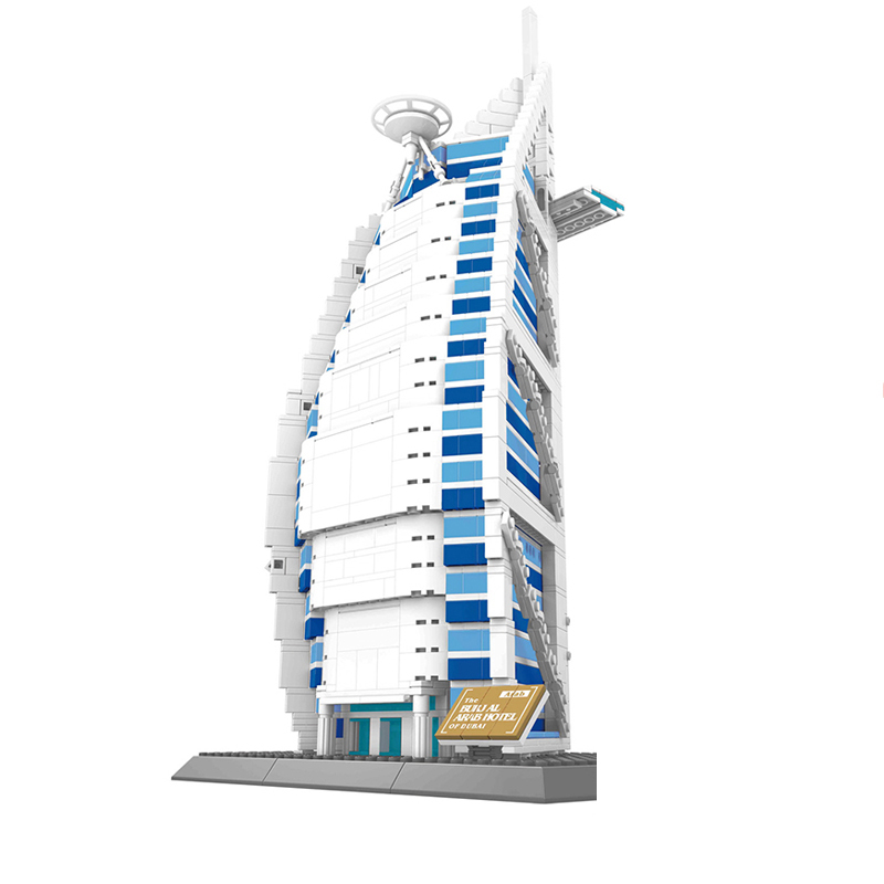 Wange 5220 1307pcs Dubai Burj Al Arab Hotel Building Blocks Creative DIY Gifts Bricks Toys for