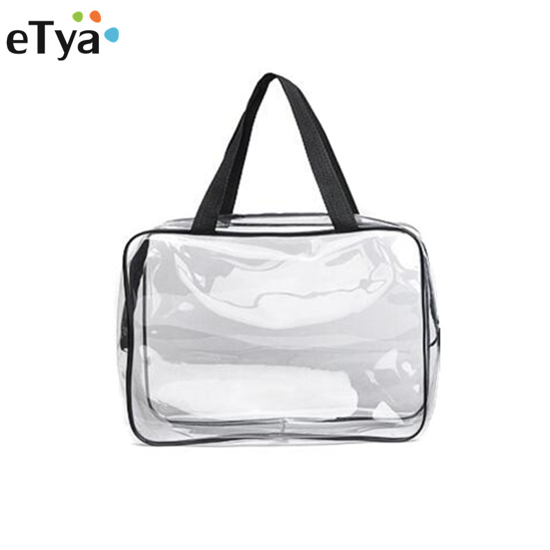 Travel PVC Cosmetic Bag For Make Up Women Waterproof Transparent Toiletry Makeup Bag  Zipper Wash Organizer Storage Pouch
