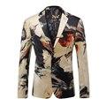 Blazer Homens 2017 Designer Colorido Jaqueta Blazer Mens Ternos Italianos Marcas Ternos Extravagantes Para Homens Festa de Casamento Do Baile De Finalistas Vestido Q202