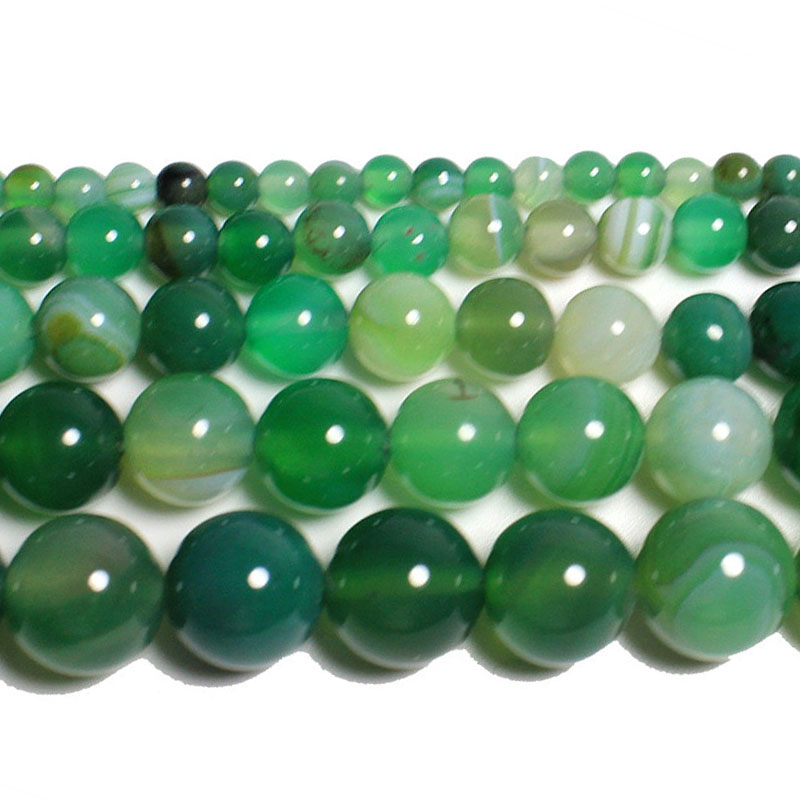 """4MM  AGATE GEMSTONE GRASS GREEN FACETED ROUND LOOSE BEADS 15/"""""""