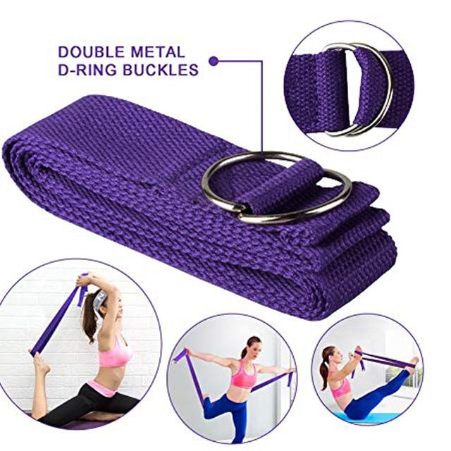 EVA Yoga Block Set Exercise Workout Fitness Brick Bolster Stretch Belt Aid Gym Pilates Training Body Shaping Fitness Equipment 4