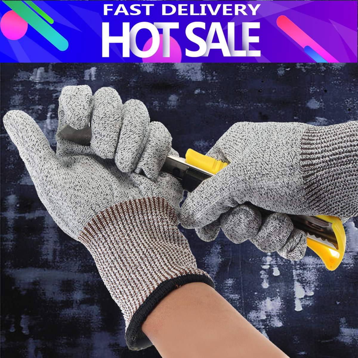 Safety Cut Proof Stab Resistant Stainless Steel Wire Metal Mesh Butcher Gloves Cut-Resistant Safety Gloves