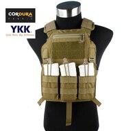 Cordura Tactical Ánh Sáng Hồ Sơ Thấp 4020 Carrier Tấm Vest Khaki (STG051057)