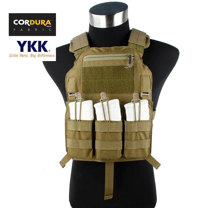 Cordura Tactical Light Low Profile 4020 Plate Carrier Vest Khaki(STG051057) цена
