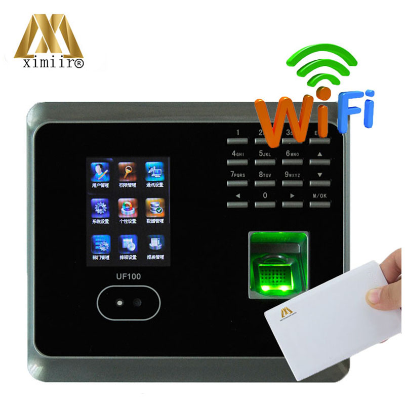 Standard Wifi+Mifare Uf100 Tcp/ip Fingerprint Time Attendance System Zkteco Face And Fingerprint Attendance Machine