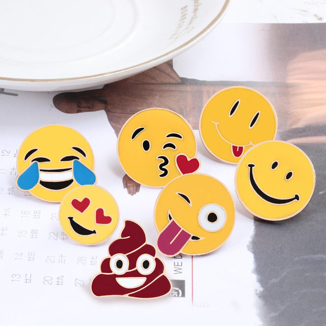 Smiley Brooch Pins