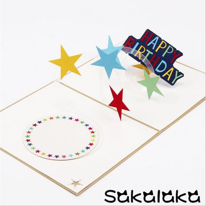 creative 3d handmade custom happy birthday gift card for
