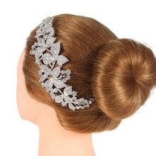 Роскошный Кристалл, свадебная расческа для волос, заколка, цветок, стразы, расчески для волос, свадебные аксессуары для волос, головной убор невесты, украшение на голову