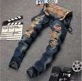 Blue Jeans With Holes 2015 New Hot Cool Distressed Jeans Ripped Jeans For Men Blue Jeans With Holes