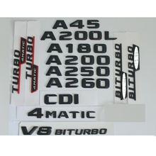 3d матовый черный значок для букв багажника эмблемы значки Стикеры