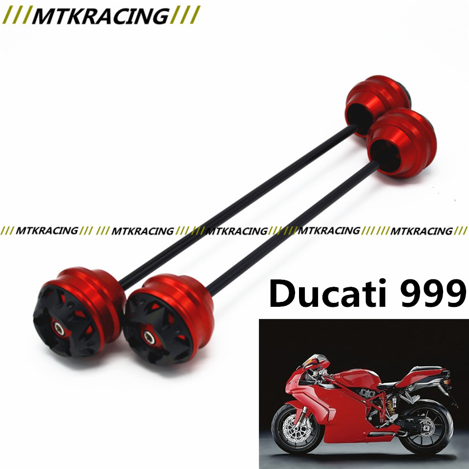 Free shipping for Ducati 999 2003-2006 CNC Modified Motorcycle Front and rear wheels drop ball / shock absorber
