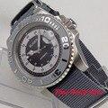 Роскошные механические Автоматические наручные часы BLIGER  40 мм  мужские водонепроницаемые часы для ныряния  летчика  серого цвета  со светящ...