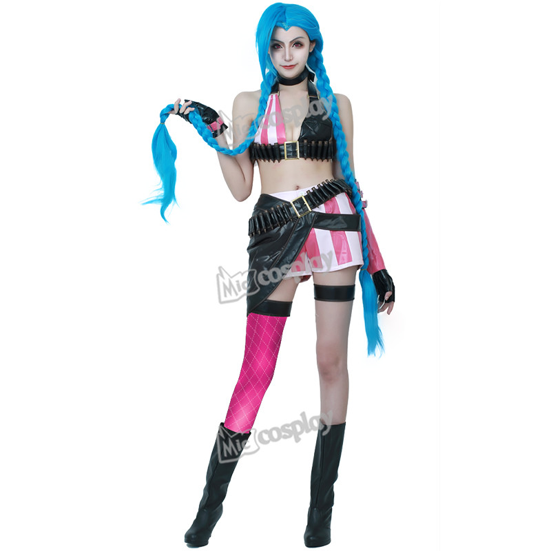 Cannon jinx cosplay costume from lol halloween party dress clothing