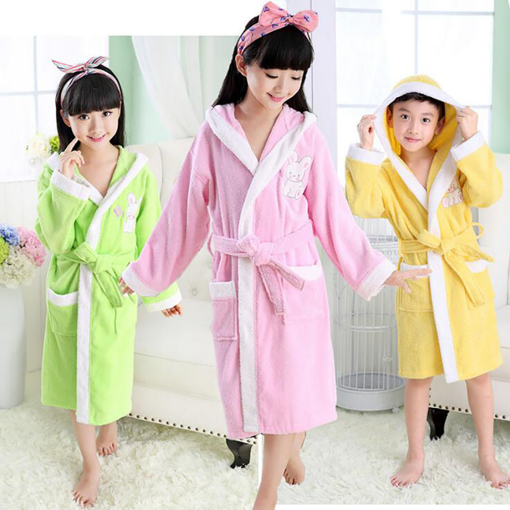 2016 New Bath Robe Animal Model Kids Bathrobe Household Bath Robe Children's Pajamas Boys Girls Flannel Cotton Bathrobes Robes
