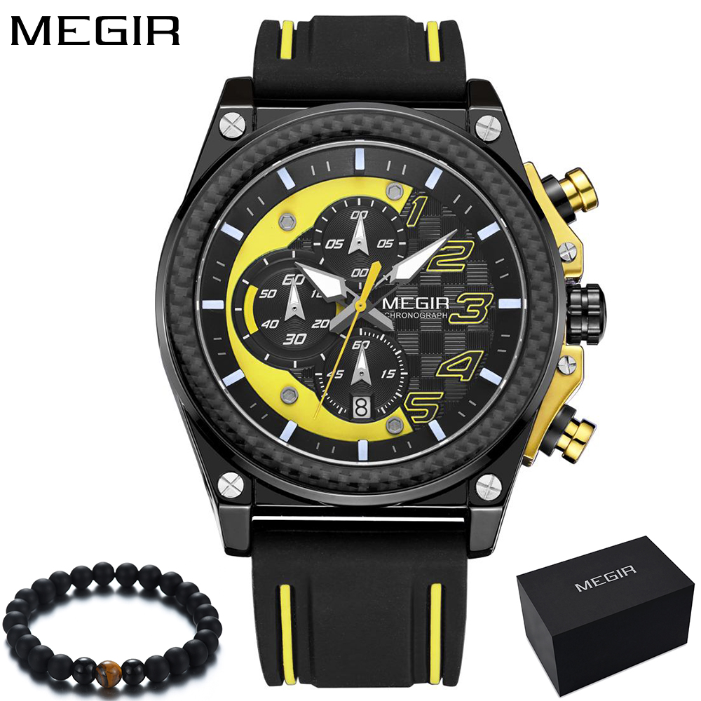 Watch Mænd Style MEGIR Luksus Brand Sports Quartz Watch Silikone - Mænds ure - Foto 5