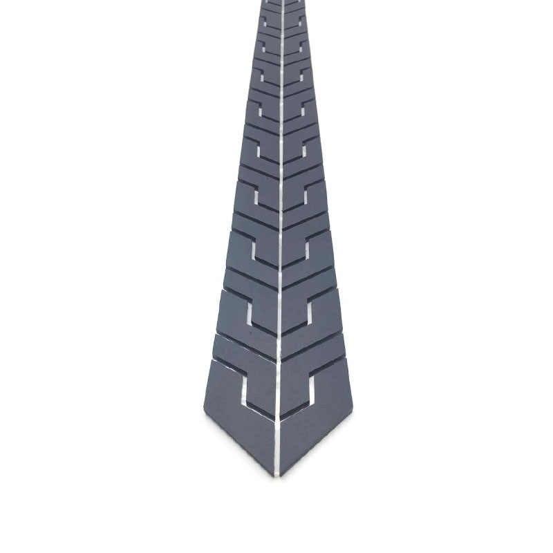Neue Ankunft Schwarz Matt Plexiglas Acryl Mode Plaid Krawatte Dünne Männer Frauen Alle Abgestimmt Zubehör Hochzeit Business Party